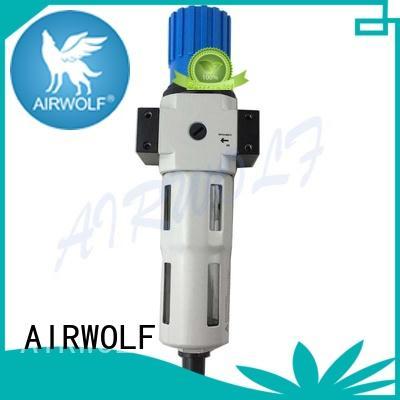 pneumatic bf filter regulator unit preparation AIRWOLF company