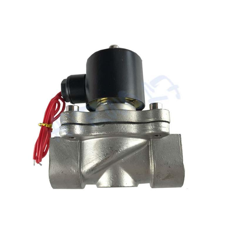 2S250-25 Normal Close Stainless steel direct-acting AC110V 2 way Water valve  G1