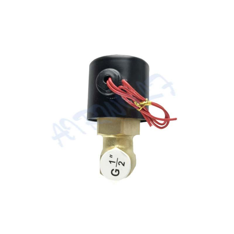 US-25 normally open Brass direct-acting 110VAC 220V 24VDC 2 way Water valve  G1