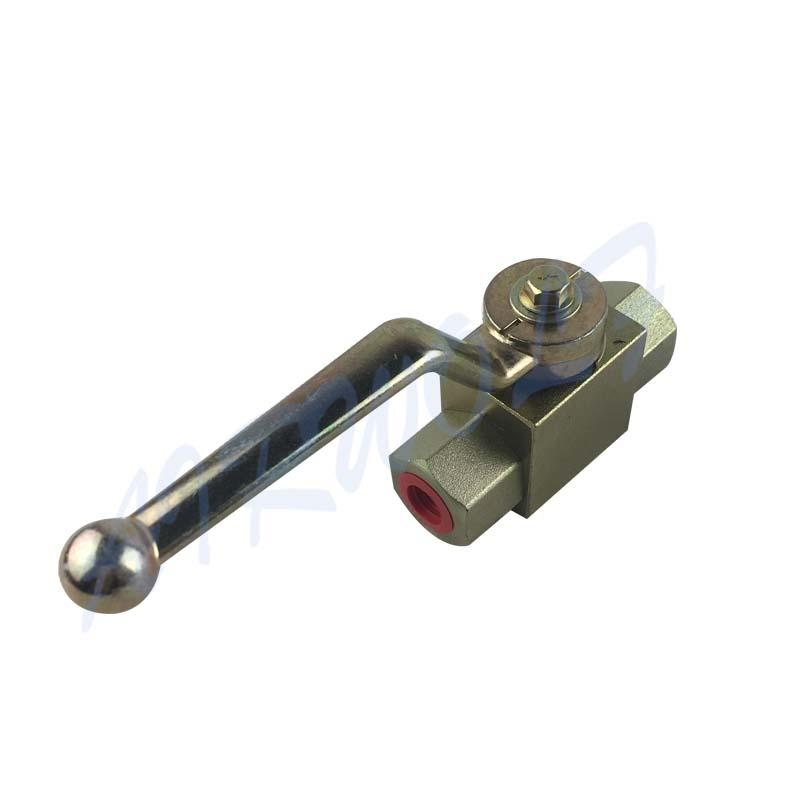 2 Way Stainless Steel Block Type KHB-1/4 Hydraulic Ball Valve High Pressure Ball Valve