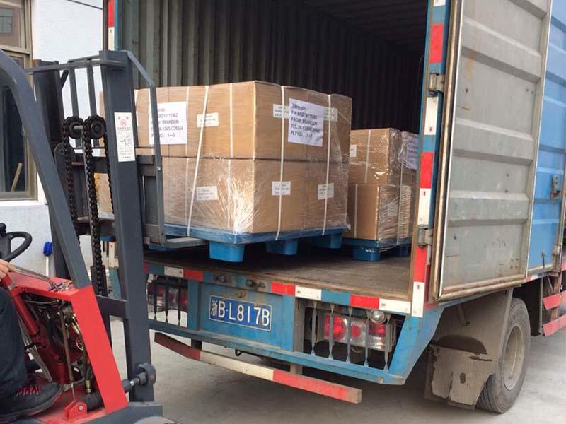 13 pallets pulse valves are being packed and shipped to the USA