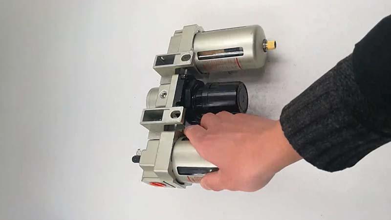 AC4000-04 FRL Air Source Treatment Units filter reugulator lubricator