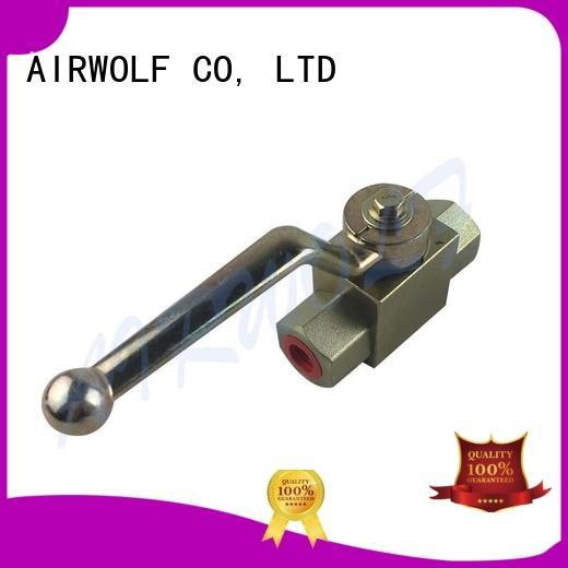 AIRWOLF stainless hydraulic ball valves high pressure pressure valve