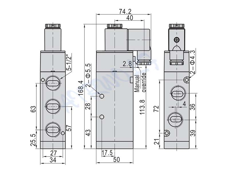 AIRWOLF high-quality solenoid valves spool liquid pipe-7