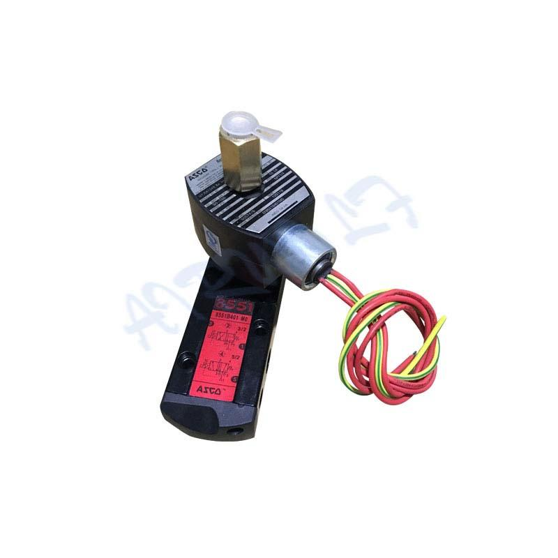 EF8551 Series EF8551B401MO single solenoid pilot operated spool type 5/2 way aluminium body 3/2 way magnetic valve 1/4