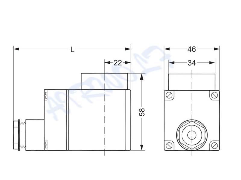 AIRWOLF custom solenoid valve coil spade for enclosures-10