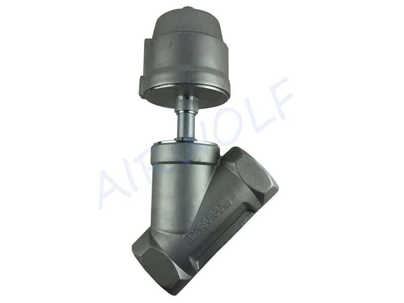 AIRWOLF single pneumatic angle seat valve threaded-1