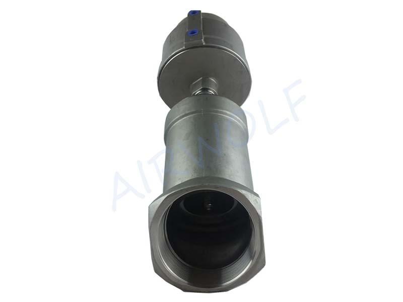 AIRWOLF single pneumatic angle seat valve threaded-6