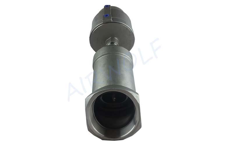 AIRWOLF single pneumatic angle seat valve threaded-5
