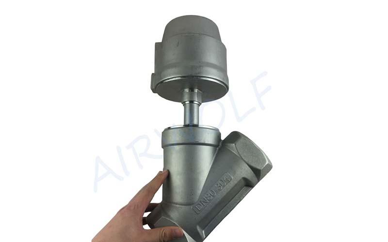 AIRWOLF single pneumatic angle seat valve threaded-4