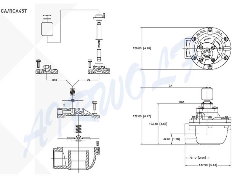solenoid pulse motor valve norgren series custom-6