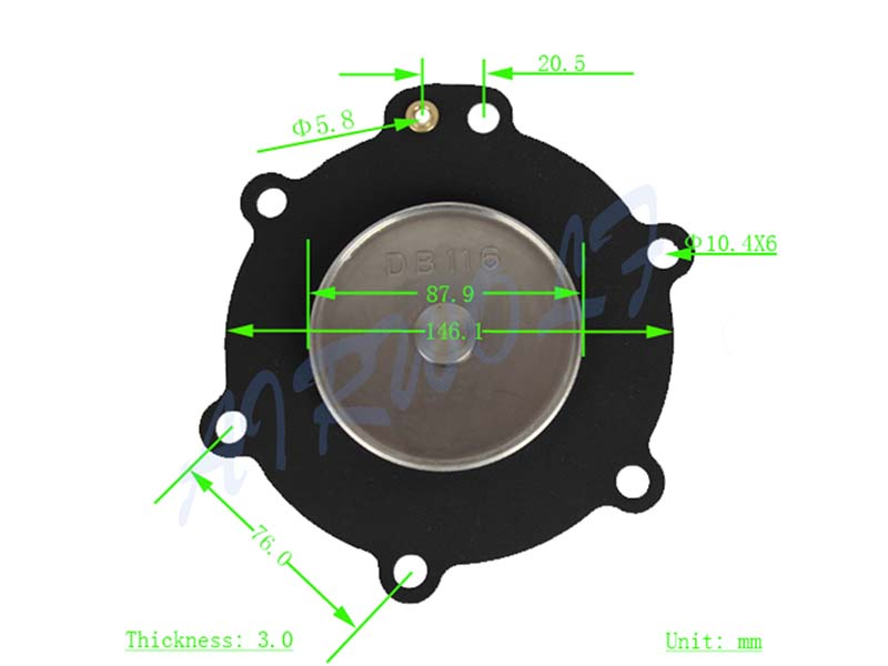 AIRWOLF green diaphragm valve repair kit norgren paper industry-9
