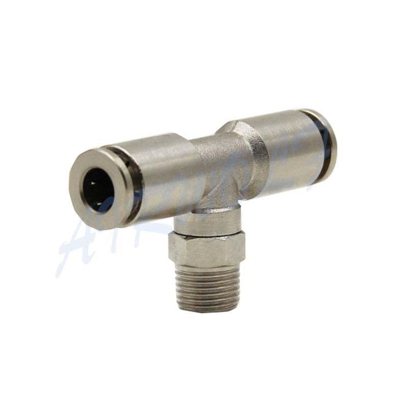 Pneumatic Tube fitting X6430 BSPT 12-1/2 Stainless steel Three-way middle thread