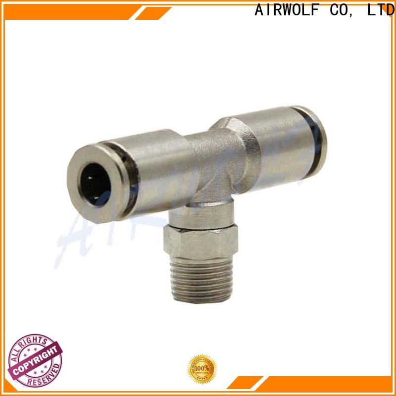 steel pneumatic tube fittings three-way durable for piping system