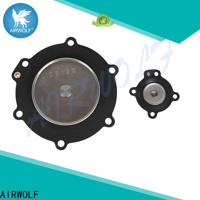 AIRWOLF stainless steel diaphragm valve repair kit Santoprene treatment
