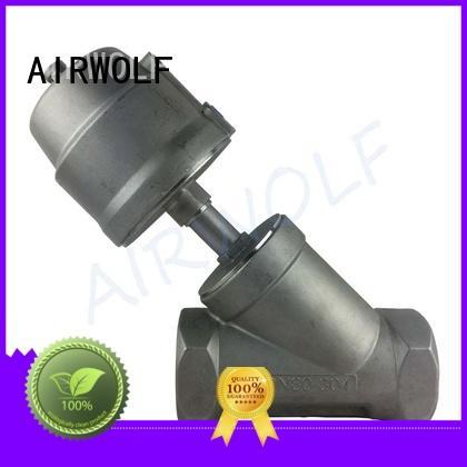 AIRWOLF Brand steel valve angle seat globe valve actuator