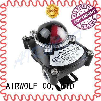 AIRWOLF pneumatic valve actuator free design control signal