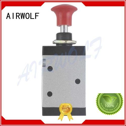 aluminum position pneumatic hand valve valves AIRWOLF company