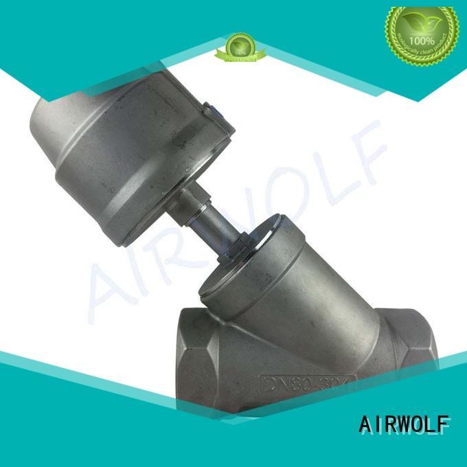 stainless steel pneumatic angle seat valve custom aggressive fluids