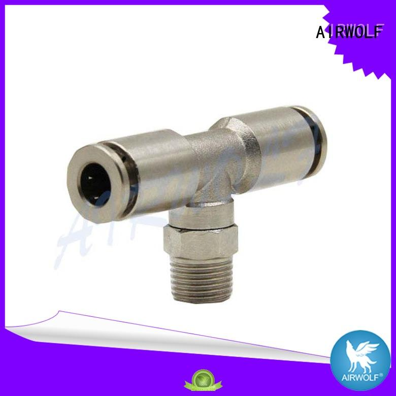 pneumatic threeway quick connect pneumatic fittings brass AIRWOLF company