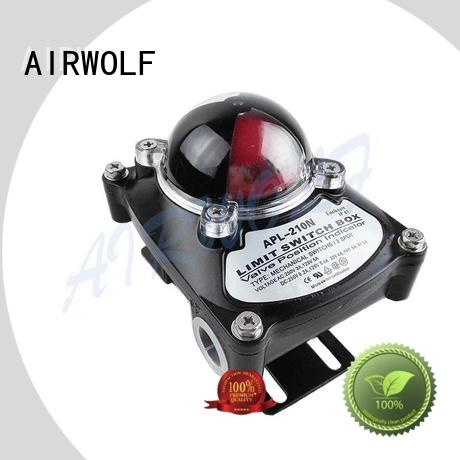 AIRWOLF action pneumatic control valve actuator switch positioning