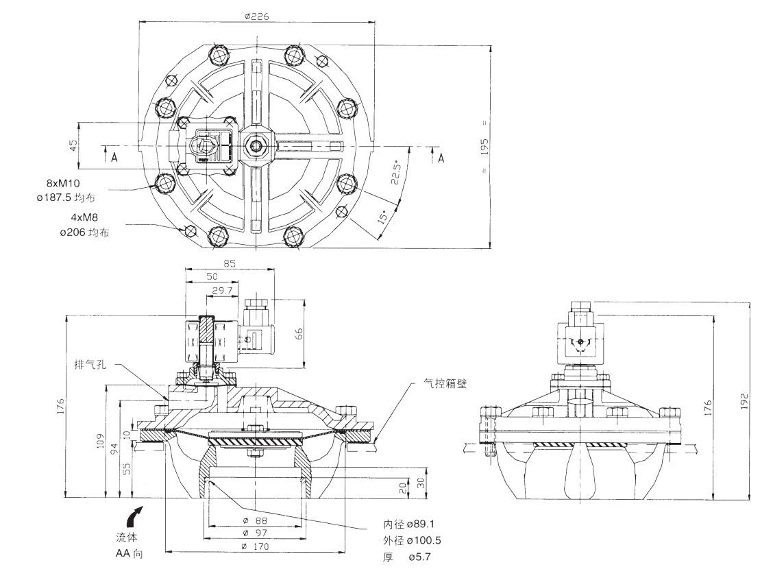 ODM pulse valve function norgren series custom-10