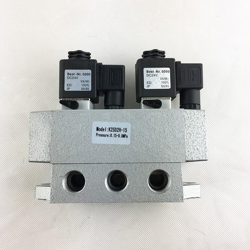 AIRWOLF aluminium alloy single solenoid valve spool direction system-2