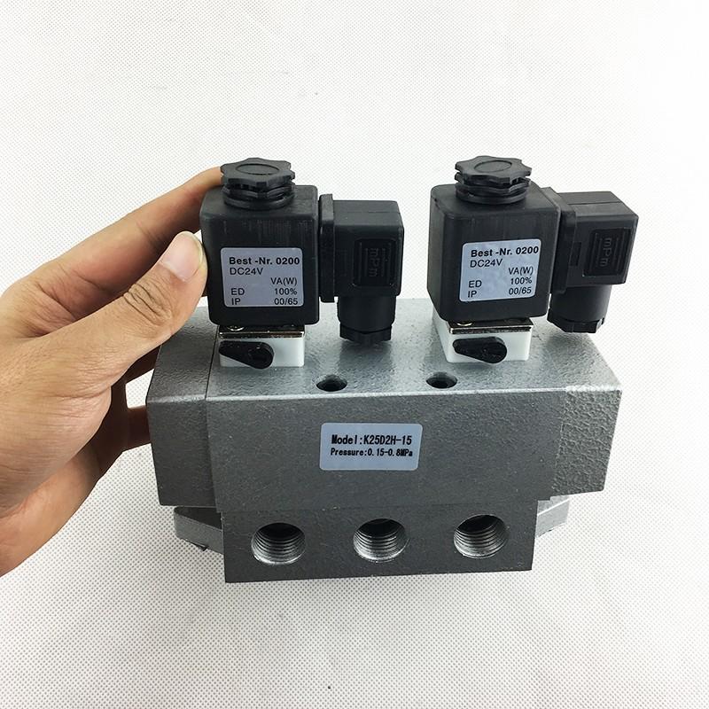 AIRWOLF aluminium alloy single solenoid valve spool direction system-3