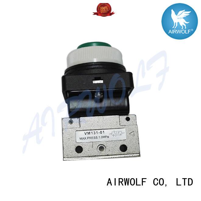 AIRWOLF custom pneumatic manual valves stroke bulk production