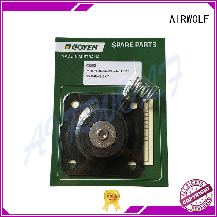 AIRWOLF piloted diaphragm valve repair gland paper industry