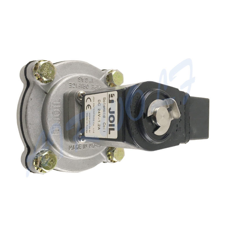 KOREA JOIL Type Pulse jet valve JISI25 24VDC 220VAC 1 inch Aluminium alloy Silver