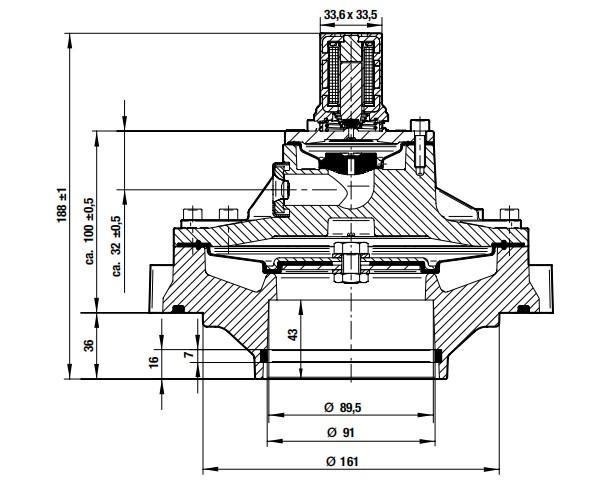 dedusting pulse flow valve aluminum dust