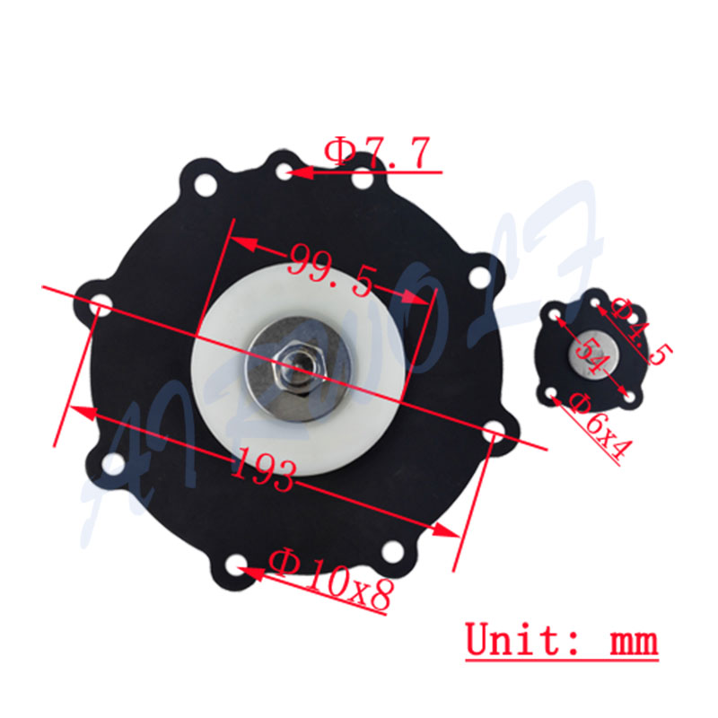 Diaphragm valve repair kit Korea Joil type JISI80 Nitrile 3 inch Black Nylon-4