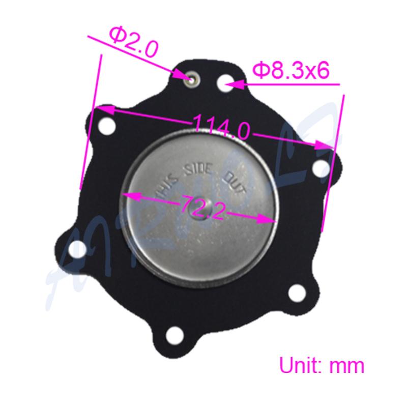 AIRWOLF hot-sale diaphragm valve repair kit viton textile industry-2