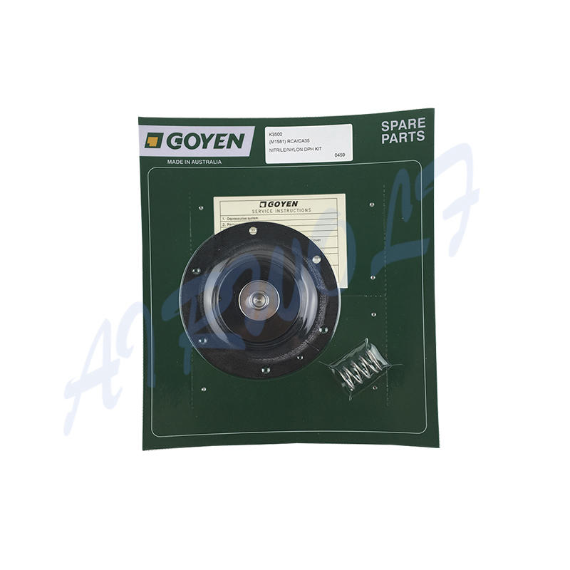 Goyen type pulse jet valve CA35T RCA35T Diaphragm Repair Kits K3500 Nitrile / K3501 Viton