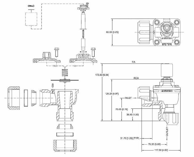 Goyen Type CA25DD RCA25DD 1 Inch Aluminium Alloy Electronic Control Pulse Valve