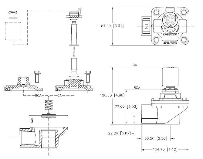 Aluminum Alloy Pulse Valve CA25T Goyen Type 1 Inch-6