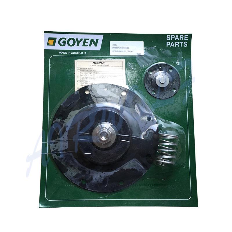 Goyen type pulse valve CA50T RCA50T CA62T RCA62T Diaphragm Repair Kits K5004 Nitrile / K5000 Viton