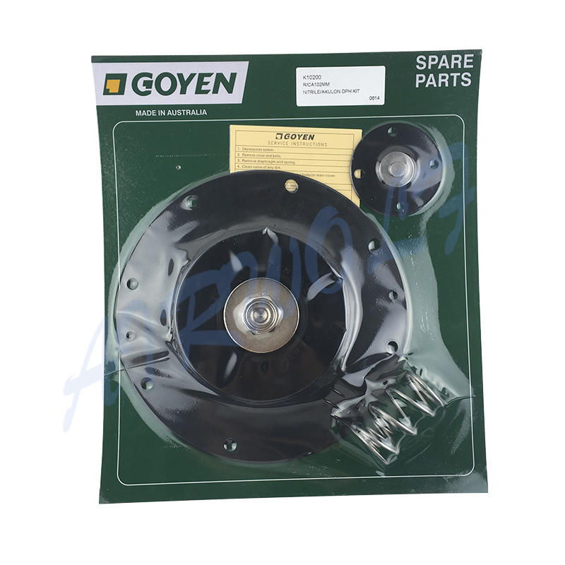 4 inch Double diaphragm pulse jet valve repair kit K10200 Nitrile / K10201 Viton for Goyen type CA102MM RCA102MM
