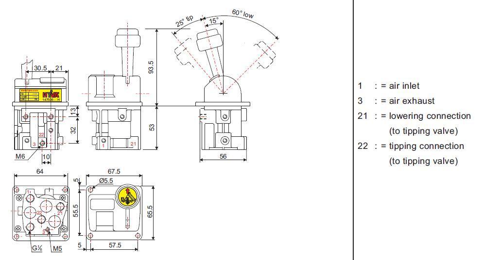 AIRWOLF excellent quality dump truck control valve mechanical force-6