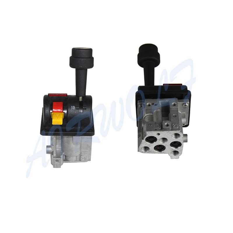 BKQF34-B HYVA 14750665H Dump Truck control Tipping valve 4 Hole with Slow Down Button