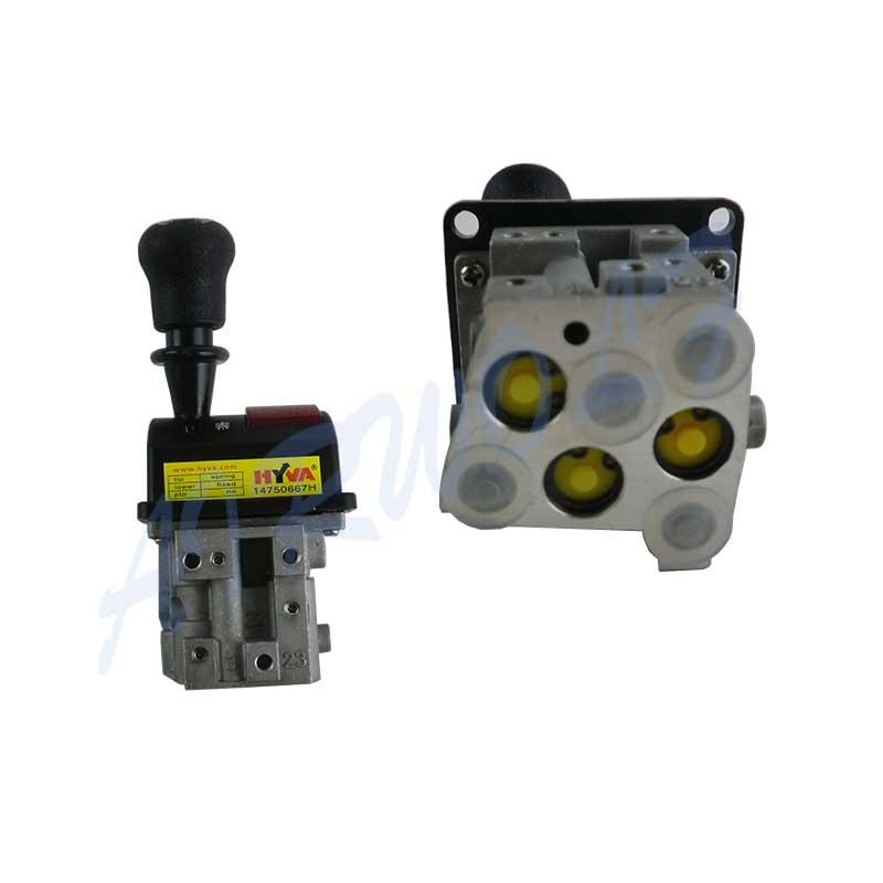 Aluminum Alloy Dump Truck Controls FLYQF34-A HYVA type 14750667H With Oval Rubber Handle