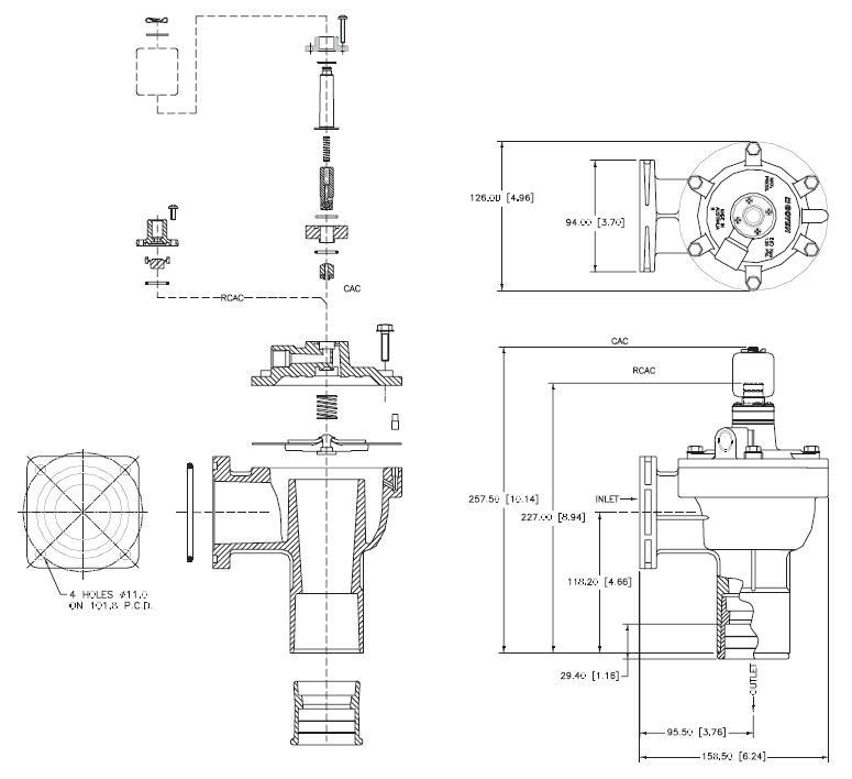 AIRWOLF norgren series pulse valve function custom dust blowout