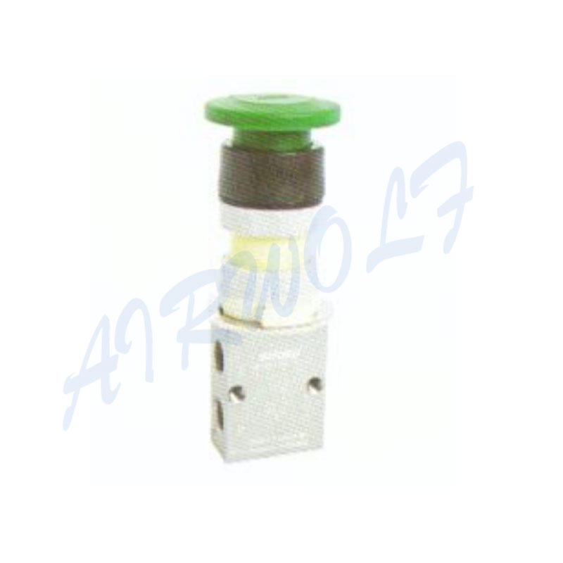 Airtac 3/2 way S3PM series Aluminum alloy PM Mushroom type S3PM-06 RC1/8 Pneumatic manual valves