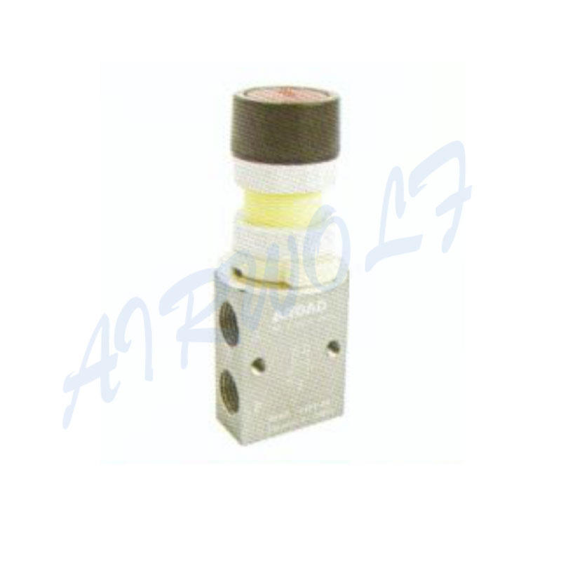 Airtac 3/2 way S3PF series Aluminum alloy FP Flat  type red S3PF-06 1/8 Pneumatic manual valves