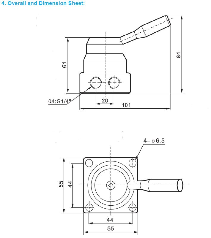 AIRWOLF cheapest price pneumatic manual control valve valves wholesale-6