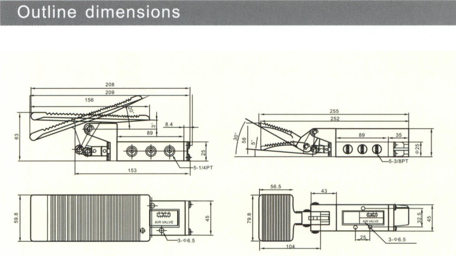 AIRWOLF mechanical pneumatic manual valves control wholesale-6
