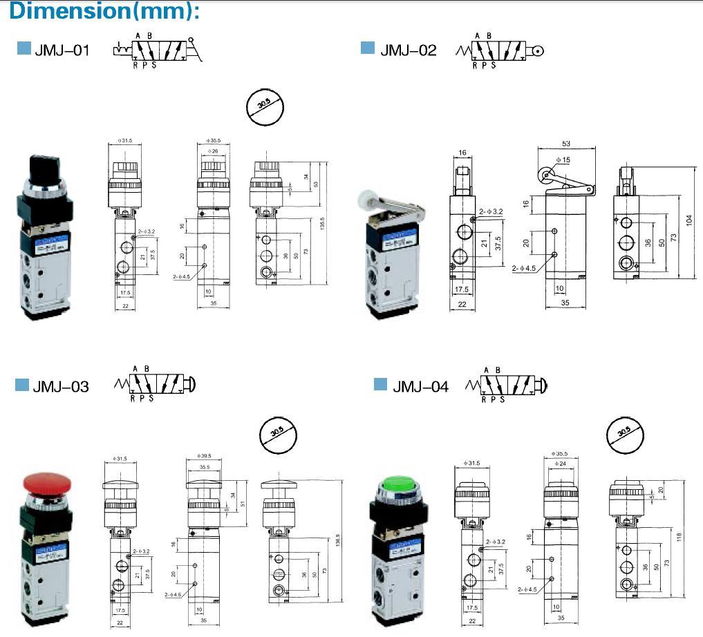 high quality push button pneumatic air valve return wholesale AIRWOLF-6