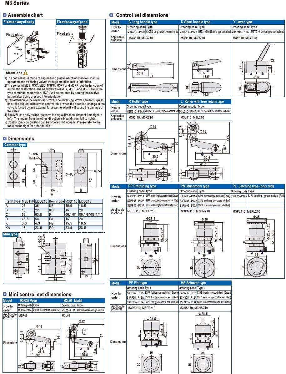 pp pneumatic push pull valve port bulk production