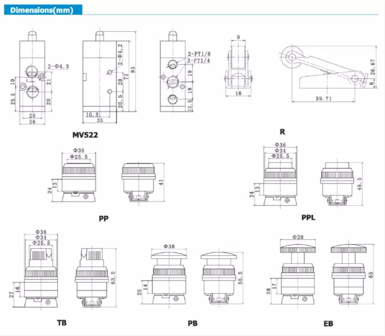 custom pneumatic manual control valve high quality at discount AIRWOLF-5